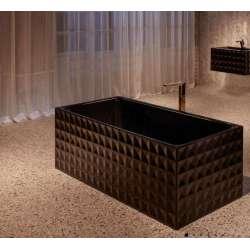 BetteLoft Ornament правоъгълна вана, свободностояща 181х81 см -черна 2