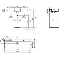 Ideal Standard Strada II 120 см мивка 1