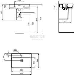 Ideal Standard Strada II 60 см мивка с отвор за смесител 1