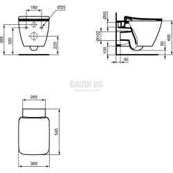 Ideal Standard Strada II конзолна тоалетна чиния - AQUABLADE® с капак 2