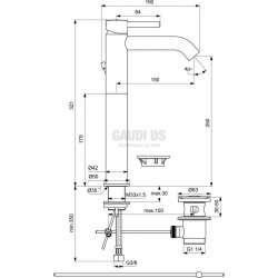 Ideal Standard Ceraline стоящ смесител за мивка Vessel с изпразнител 2