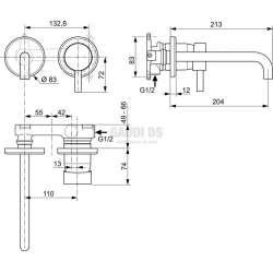 Ideal Standard Ceraline вграден смесител за мивка 2