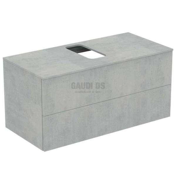 Ideal Standrd Adapto долен конзолен шкаф 105 см с 2 чекмеджета, сив камък U8597FX