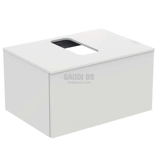 Ideal Standrd Adapto долен конзолен шкаф 70 см с 1 чекмедже, бял гланц U8595WG