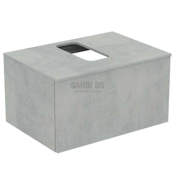 Ideal Standrd Adapto долен конзолен шкаф 70 см с 1 чекмедже, сив камък U8595FX