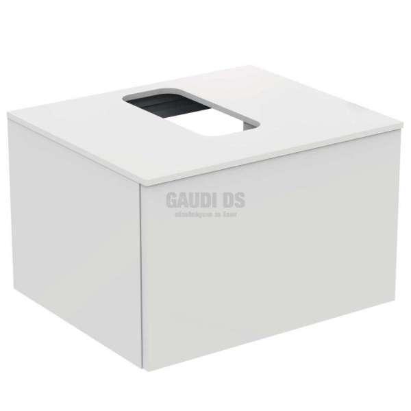 Ideal Standrd Adapto долен конзолен шкаф 60 см с 1 чекмедже, бял гланц U8594WG