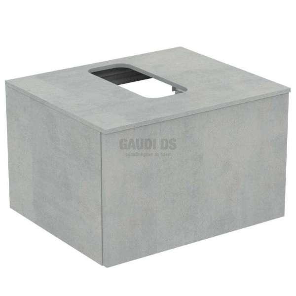 Ideal Standrd Adapto долен конзолен шкаф 60 см с 1 чекмедже, сив камък U8594FX