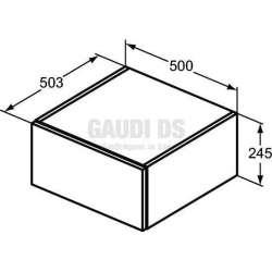 Ideal Standrd Adapto допълнителен модул 50 см, бял гланц 1