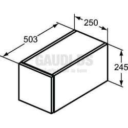Ideal Standrd Adapto допълнителен модул 25 см, бял гланц 1