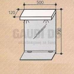 Горен шкаф Triano Style 55 см с Led осветление 2