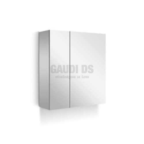 Arvipo Soft горен шкаф с огледални врати 60 см, бял