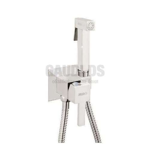 MIRO SUM11+SOLR8 квадратен смесител за вграждане с хигиенен душ