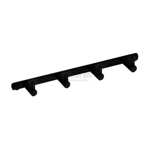 Bemeta Dark закачалки за хавлия, четворка, черен мат