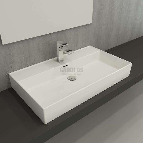 Bocchi Milano 80 см мивка за плот, бял гланц 1377-001-0126