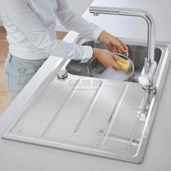 Grohe комплект дълбока мивка и смесител с издърпващ аератор