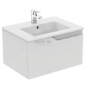 Комплект Ideal Standard мивка Tempo + шкаф Imagine бял