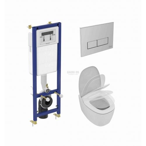 Промо комплект Ideal Standard Dea за вграждане, плавно падаща седалка