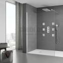 ROCA Victoria DF900 фиксиран душ параван 90см - прозрачно стъкло