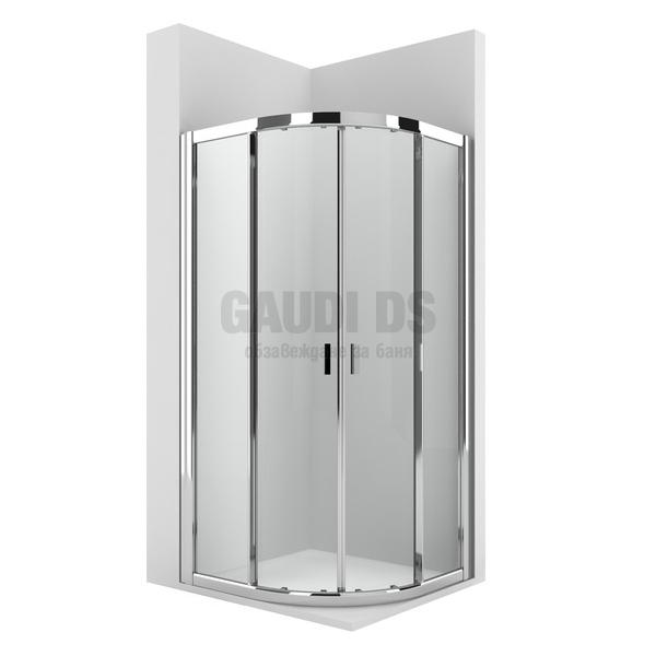 Roca Ura MR овална душ кабина 90х90 - прозрачно стъкло AM14009012