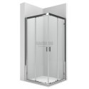 ROCA Ura L2 квадратна душ кабина 100х100 - прозрачно стъкло