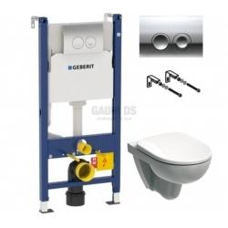 Структура Geberit Duofix с бутон Delta 21, хром + тоалетна Selnova
