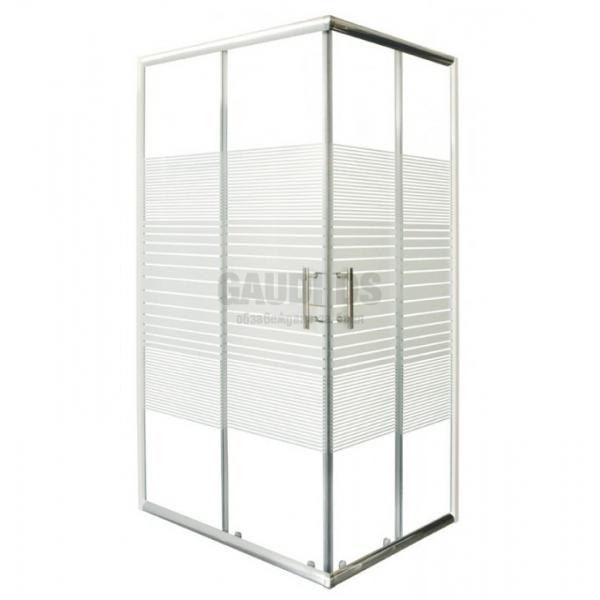 Правоъгълна 120х80х198 рисувано стъкло, без корито P8012C