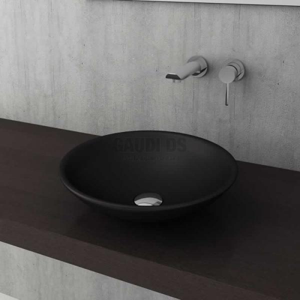Bocchi Venezia 40см умивалник за монтаж върху плот черен мат 1120 004 0125