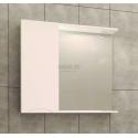 Visota Polina PVC горен шкаф 69 см с огледало и осветление