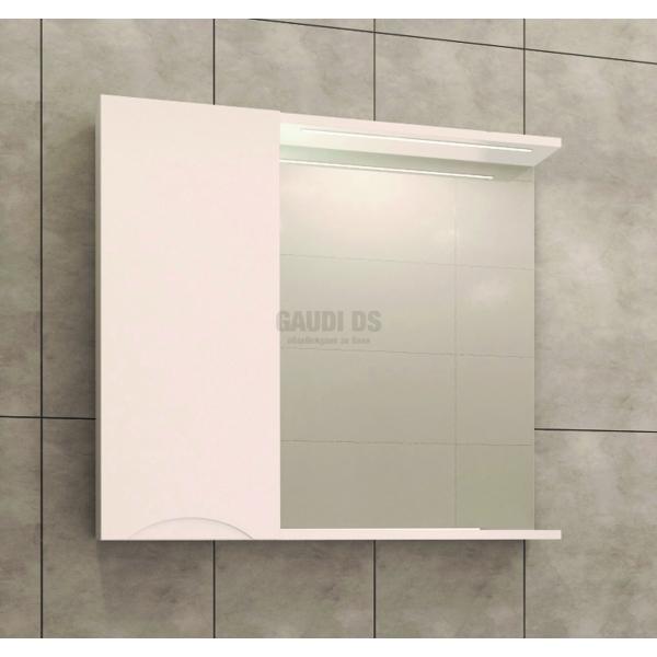 Visota Polina PVC горен шкаф 69 см с огледало и осветление goren_polina_pvc