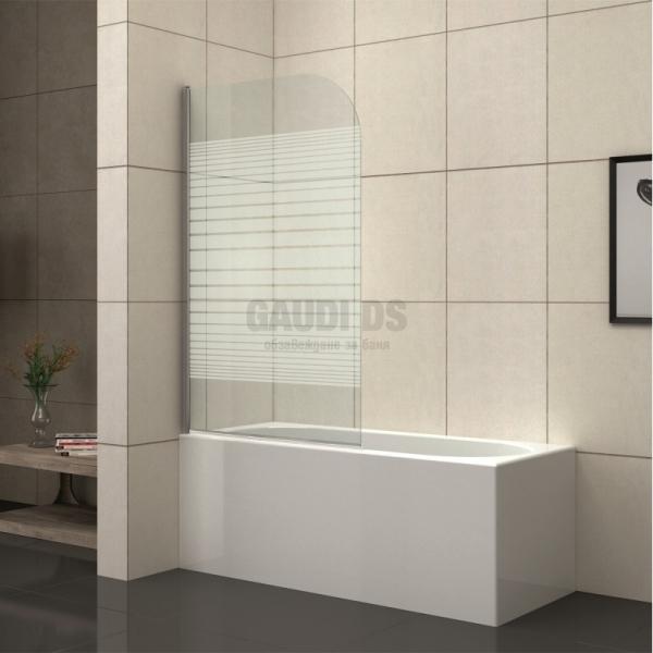 Стъклен параван за вана 80x130см, рисувано стъкло ICS 112 F/31