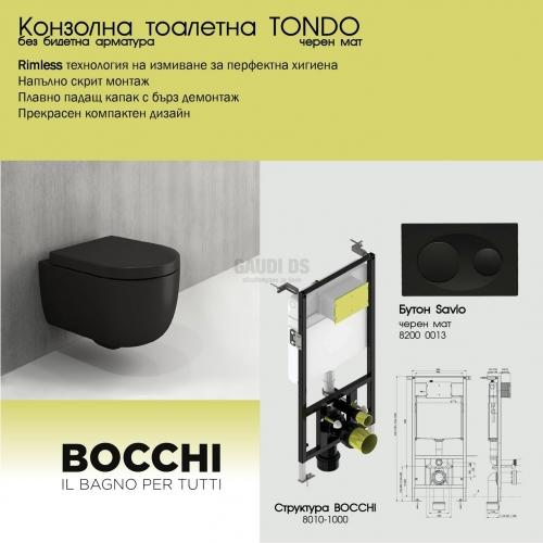 Промо пакет Bocchi Tondo, черен мат