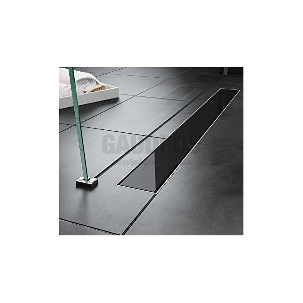 Линеен сифон за баня Glossy Black 60 см 67891–60