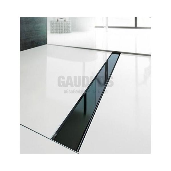 Линеен сифон за баня Glossy Black 70 см 67891–70