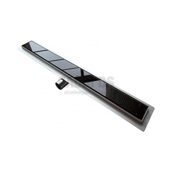 Линеен сифон за баня Glossy Black 100 см 67891–100