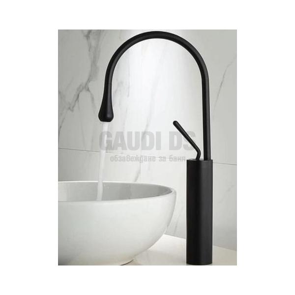 Висок смесител за мивка Blandini Borola, черен мат BL993.150