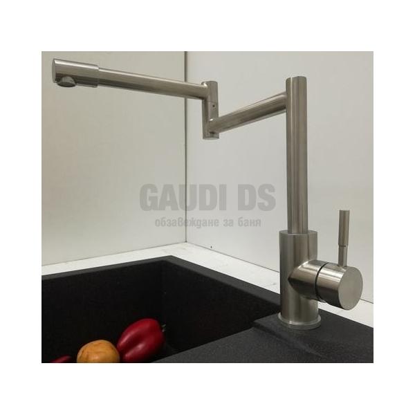 Висок смесител за мивка Blandini Duola, инокс BL_BL639D