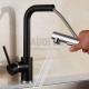 Висок смесител за мивка Blandini Fargo Bl, черен мат 1 BL_128 BL