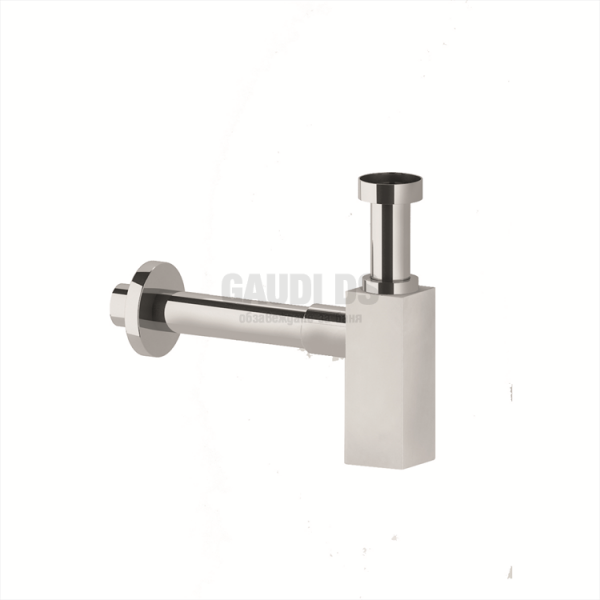 Ponsi декоративен квадратен сифон за мивка, хром BTSCACVR41