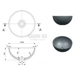 Bocchi мивка за плот, купа d -26 см 1