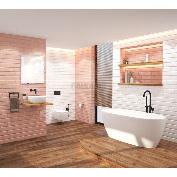 Golden Tile Metro плочки 10x20, розово/сьомга gt465051