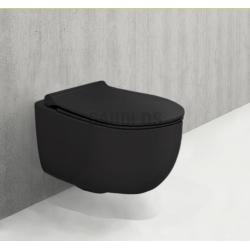 Пакет Tece с бутон и тоалетна Bocchi Tondo Slim черен мат 2
