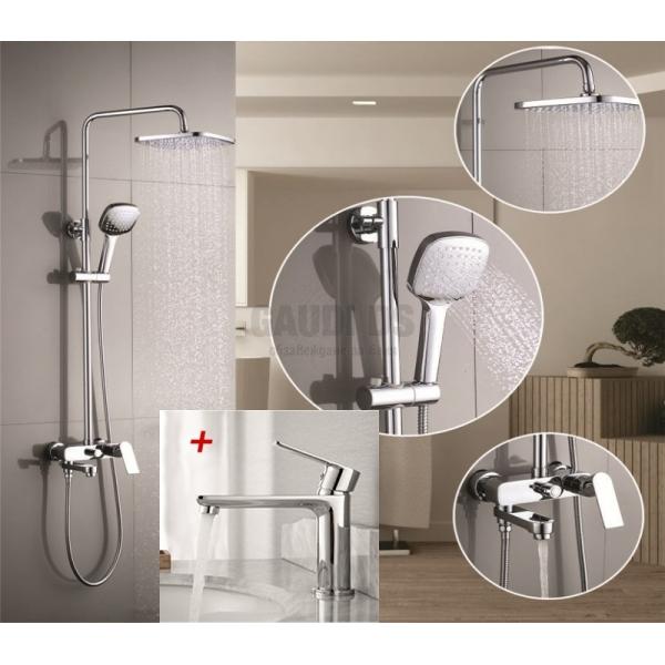 Пакет душ колона с чучур и смесител за мивка 6505_1132505