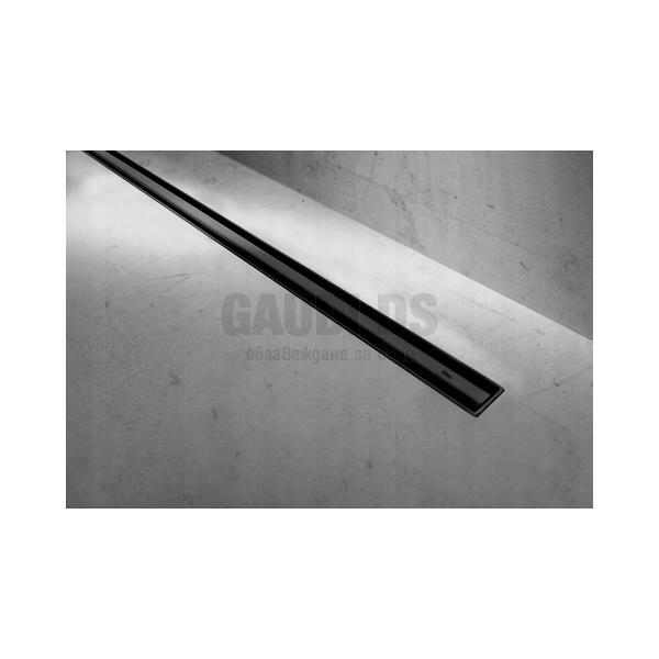 Blandini Ultra Slim линеен сифон за баня, черен мат, 80 см USB3547- 80