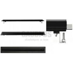 Blandini Ultra Slim линеен сифон за баня, черен мат, 90 см 2