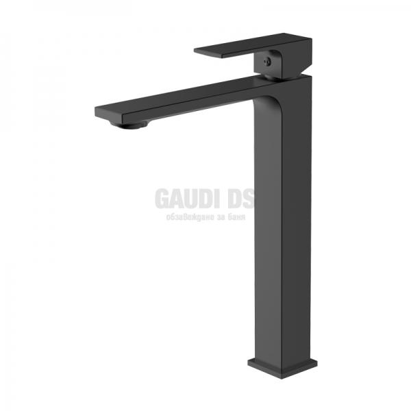 Висок смесител за мивка тип купа Black черен мат gdswellACS0269