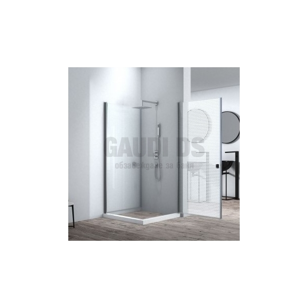 Квадратна душ кабина Alla две отваряеми врати 90x90x200 mat ICS 109SQ