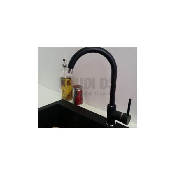 Висок смесител за мивка Blandini Deante Milin Bl, черен мат BL_BEUB62M