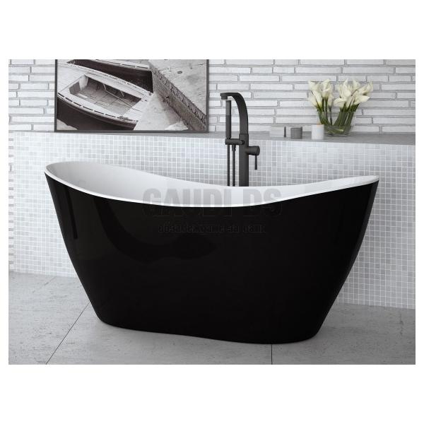 Besco Viya B&W 160 свободностояща вана 160х70 см, черно и бяло Besco_WMD-160-VBW