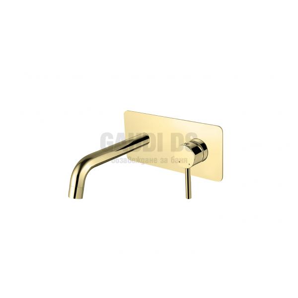 Besco Illusion смесител за вграждане за мивка, злато BU-IS-ZL
