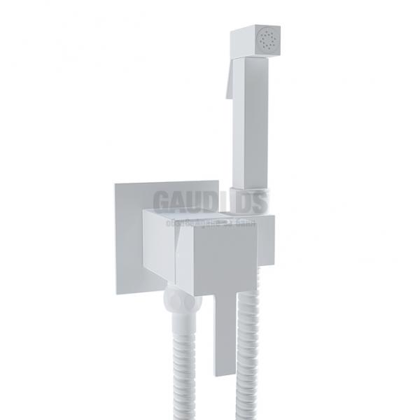 MIRO SUM11+SOLR8 бял мат смесител с хигиенен душ SUM11+SOLR8.MW